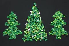 Three confetti christmas tree Stock Photo