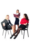 Three confident businesswomen over white Royalty Free Stock Images