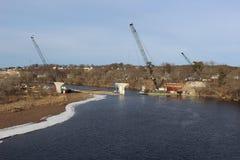 Three Construction Cranes Royalty Free Stock Image