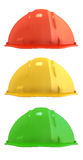 Three construction helmets Stock Image