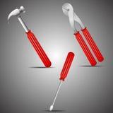 Three construction tools Royalty Free Stock Photography