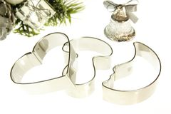 Three cookie cutters Royalty Free Stock Image