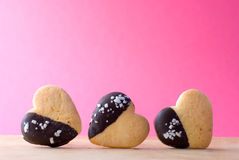Three cookie heart-shaped Stock Photo