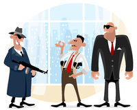 Three cool gangsters Royalty Free Stock Images