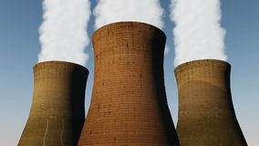 Three Cooling Towers stock video footage