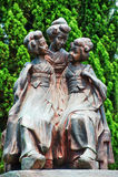 Three copper statue dancers (detail) Stock Image