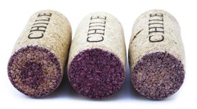 Isolated Chile Wine Corks Royalty Free Stock Images