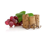 Free Three Corks With Grapes Stock Photos - 20290113