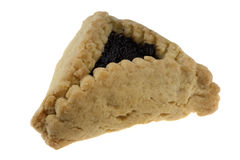 Three-cornered poppy hamantaschen cookie Royalty Free Stock Photography