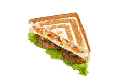 Three-cornered sandwich Royalty Free Stock Photo