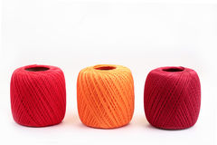 Three cotton spools Royalty Free Stock Photo