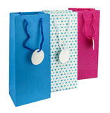 Three coulourful gift bags Royalty Free Stock Images