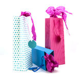 Three coulourful gift bags Royalty Free Stock Photo