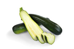 Three courgettes Stock Photos