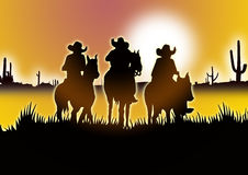 Three Cowboy Royalty Free Stock Photography