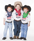 Three cowboys Stock Photo