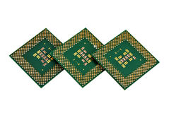 Three cpu Royalty Free Stock Photos