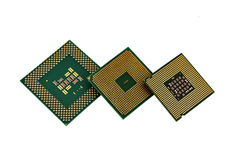 Three cpu Stock Image
