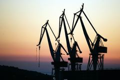 Three Crane Stock Photography