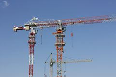 Three cranes Royalty Free Stock Photo