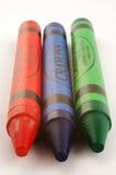 Three Crayons Royalty Free Stock Photo