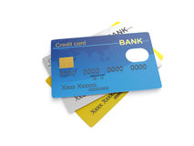 The three credit cards Stock Photo