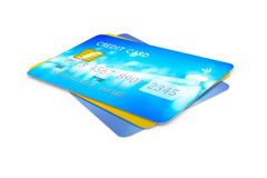 Three credit cards for payment Royalty Free Stock Photo