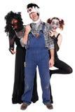 Three creepy creatures isolated on white. Three creepy halloween creatures isolated on white Stock Photo