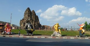 The Three Crests Phra Prang Stock Photography