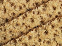 Three crispbread slices Royalty Free Stock Images