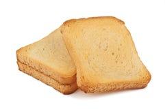 Three crispy toast Stock Images