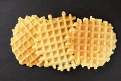 Three crispy wafers Royalty Free Stock Photo