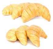 Three croissant. collage Stock Photos