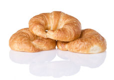 Three Croissants Stock Images