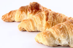 Three Croissants Stock Photos