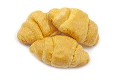 Three croissants Royalty Free Stock Photos