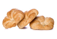 Three croissants cut out Royalty Free Stock Image