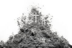 Free Three Cross On The Golgotha Hill As Good Friday, Easter, Ash Wednesday Or Lent Royalty Free Stock Image - 173447226
