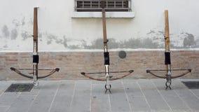Three crossbows on the wall Stock Photos