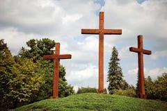 Three Crosses royalty free stock photo