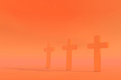 Three crosses Stock Images