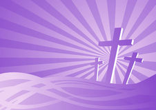 Three crosses vector illustration