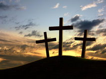 Three crosses Stock Photography