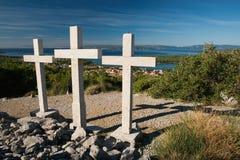 Three crosses Stock Images