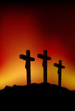 Three crosses. Abstract vector illustration of 3 figures on crosses Royalty Free Stock Images