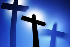 Three crosses. Abstract illustration of a vision of a three crosses (illustration art Royalty Free Stock Photos