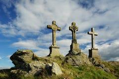 Three crosses. Memory Crisscross in Czech republic Royalty Free Stock Photo