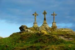Three crosses. Memory Crisscross in Czech republic Royalty Free Stock Photography