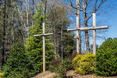Three Crosses at Church Royalty Free Stock Photography