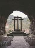 The three crosses in Covadonga Royalty Free Stock Image